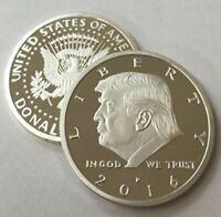 Rare Donald Trump Republican US Eagle White House Collection Silver Zinc Coin TR