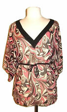 Hip Length Silk Floral Semi Fitted Tops & Shirts for Women