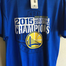 Golden State Warriors 2015 Western Conference Champions T Shirt L NWT NEW