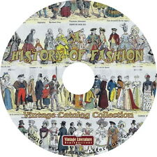 History of Fashion { Vintage Clothing Design Images ~ Books ~ Patterns } on DVD
