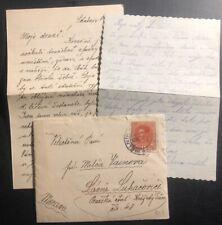 1918 Melnik Austria Cover To lázně luhačovice Czechoslovakia With Letter
