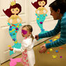 Pin The Tail On Mermaid Party Game Felt Detachable Ornaments Kids Birthday Gift
