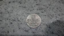 Silber   Münze  III  Kreuzer Baden   1812