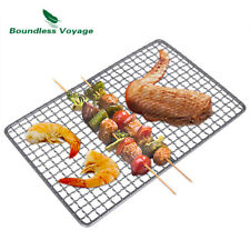 Titanium Grill Grate Mini Size Durable Charcoal BBQ Grill Plate For Ourdoor Camp