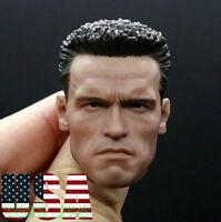 1/6 Arnold Schwarzenegger Head Sculpt 2.0 Terminator T800 For PHICEN M34 ❶USA❶