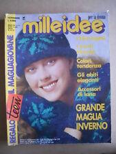 MILLEIDEE n°11 1987 - rivista di moda e lavori femminili  [G582]