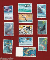 1973 Australian Antarctic Territory Definitives Set of 11 SG 23/34 FU