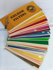 More details for vintage strand electric sample book colour filters 60 cinemoid colours 1950's