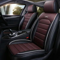 Universal PU Leather Car Seat Cover 5-Sits Front+Rear w/Pillows Cushion Interior