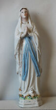 Vierge en biscuit mains jointes èpoque 1900
