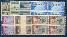 NEW ZEALAND 1947-65 LIFE INSURANCE DEPARTMENT L42/L49 BLOCKS OF 4 MNH