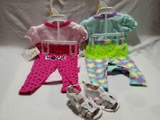 Buster Brown 3-6 Mth Baby Girl Pink on Pink Outfit, green and purple outfit
