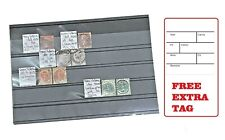 10 Sheets Stamp Stock Card (1-5 Strips) Storage Display A5 Size with Foil Cover