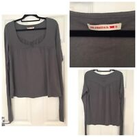 Levi Strauss Grey Blouse Casual Long Sleeve Size M Medium (644)