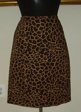 Women's Lord & Taylor Straight Leopard Print Skirt - Size 18W