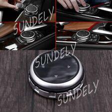 Silver Replacement Bigger Multimedia Knob Cover iDrive For BMW F30 F32 F33 F34