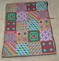 "EXCEPTIONAL AMISH STUDY QUILT: 32"" x 41 Michigan with wear PIECED HAND SEWN!!!"