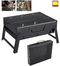 Barbacoa de Carbón Portátil Plegable para BBQ con Parrilla Playa Camping