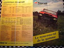brochure COURNIL 4X4 MOTEURS PEUGEOT OU RENAULT / COULEURS FRANCAIS