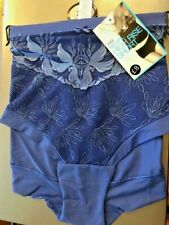 BNWT MARKS & SPENCER NO VPL HIGH RISE SHORTS BRIGHT BLUE LACE DETAIL SIZE 20