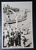 HMS DEVONSHIRE  Royal Navy Cruiser   Galley Boat       Vintage Photo Card
