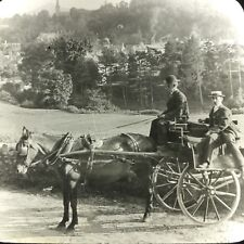 Vtg Keystone Magic Lantern Glass Slide Horse Wagon Cart Dublin Ireland Sugar Mtn