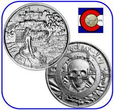 Silver Privateer Siren 2 oz UHR Coin (w/ capsule, $3+ value)