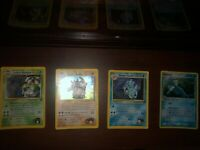 Pokemon Cards, Rare set of Giovanni's Gyarados, Brocks Rhydon, Erika's Venusaur