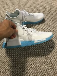 Adidas NMD R1 V2 Men's size 14 White Light Blue Sold Out
