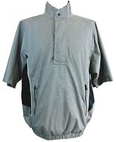 DryJoys by FootJoy Mens Large Gray Quarter Zip Short Sleeve Golf Shirt