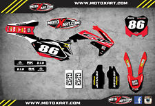 Honda CRF 450 - 2009- 2012 Full Custom Graphic  Kit - PYRO Style sticker kit