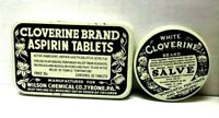 Two Different Vintage Cloverine Medicine Tins