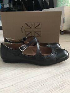 Pantanetti Ballerinas Schuhe mary Janes schwarz Gr. 38 w. Neu!