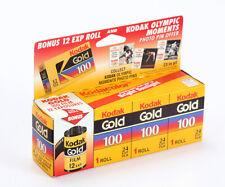 KODAK 35MM GOLD 100 THREE PACK, 24 EXP, PLUS A 12 EXP ROLL (READ)/cks/200289