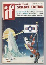 If Worlds of Science Fiction February 1957 Arthur C Clarke Frank Riley