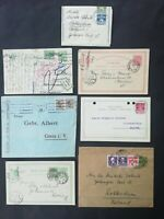 Denmark : 1893-1935 lot of 7 stationery cards and letters