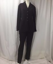 Vintage Mugler Burgundy Purple Snap Btn Blazer Slacks Suit Sz 38