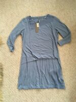 BNWT Beautiful Sandwich Comfy 3/4 Sleeve Blue t-shirt Dress Size M