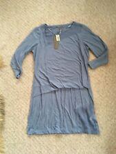 BNWT Beautiful Sandwich Comfy 3/4 Sleeve Blue t-shirt Dress Size M