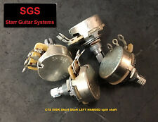 CTS Left Handed 500K Audio Taper Pots Short Shaft (set of 4) NEW!