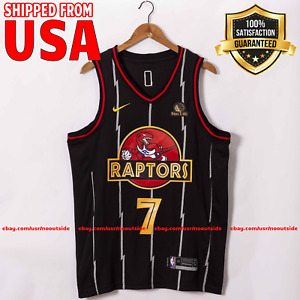 New Kyle Lowry Jersey 2021 Toronto Raptors Nike Stitched #7 NBA Black Jerseys