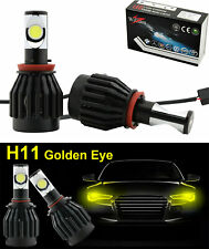 H11 LED Fog Driving Lights DRL 60W 3000K New CREE Chips Golden Yellow Bulbs