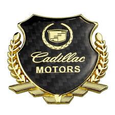 Gold Carbon Filber Cadillac Motors Fender Rear Emblem Decal for ATS CTS  XTS SRX