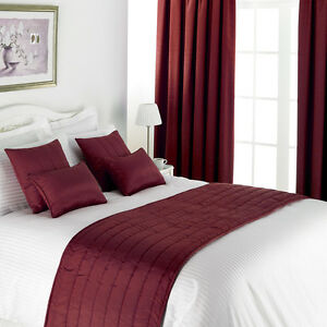 Lewis Collection Inherently Flame Retardant Quilted Bed Runner (8 Shades)