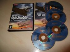 ✈ MICROSOFT FLIGHT SIMULATOR 2004 A CENTURY OF FLIGHT ~ PC GAME 4 CD SET