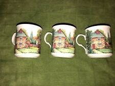 "CROWN TRENT CHINA STAFFORDSHIRE ENGLAND HOUSES VILLAGE TOWN TEA MUG CUP 3.25"" x3"