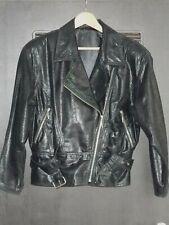 Super schicker sexy Damen Biker Kurz Blouson - Größe 38 - Schwarz - Lederjacke