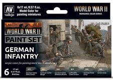 Vallejo Model Paint WWII German Infantry Set 17ml - 70206