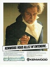 PUBLICITE ADVERTISING 0217  1981  Ampli Sigma KA1000 Kenwood Beethoven