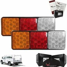 Eagle Lights Rubbolite Rear Tail Light set Chevy with Stake Body Module 12/24v